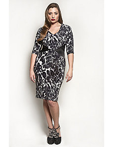 The Claire Dress in Grey Leopard by Queen Grace