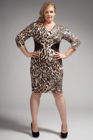 The Claire Dress in Brown Leopard