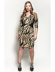 The Claire Dress in Tiger Print by Queen Grace