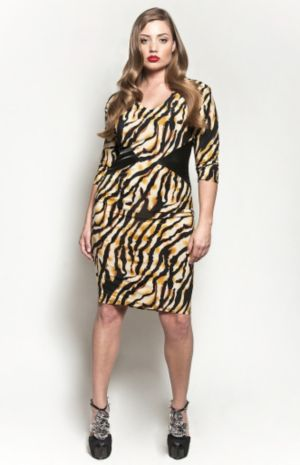 The Claire Dress in Tiger Print