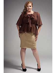 The Kara Blouse in Chocolate by Queen Grace