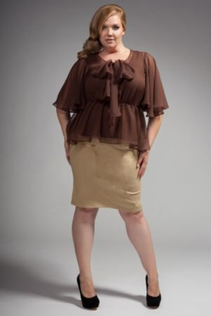 The Kara Blouse in Chocolate