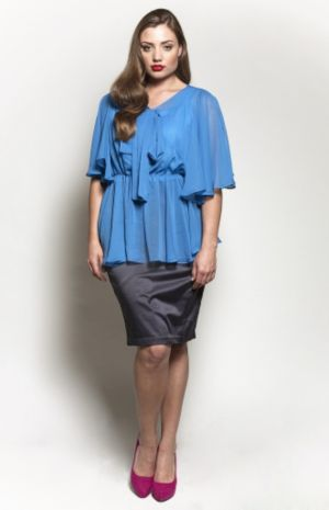 The Kara Blouse in Blue Lagoon