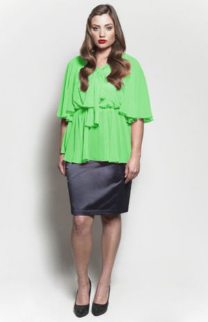 The Kara Blouse in Key Lime