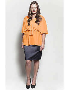 The Kara Blouse in Mango Tango by Queen Grace