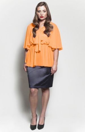 The Kara Blouse in Mango Tango