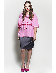 The Kara Blouse in Bubble Pink by Queen Grace