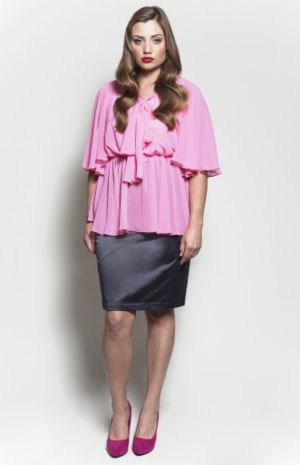The Kara Blouse in Bubble Pink