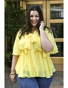 The Kara Blouse in Yellow by Queen Grace