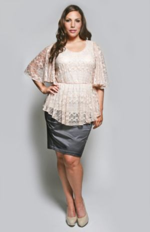 The Kara Blouse in Creamy Rose Lace