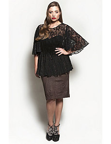 The Kara Blouse in Black Lace by Queen Grace