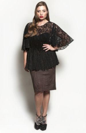 The Kara Blouse in Black Lace