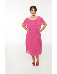 The Audrey Dress in Fuchsia by Queen Grace