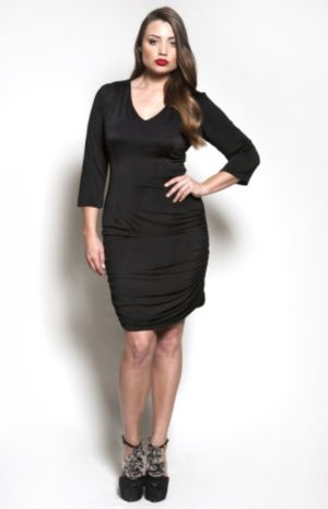 The Baize Dress in Black