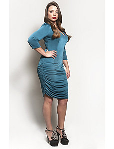 The Baize Dress in Teal by Queen Grace