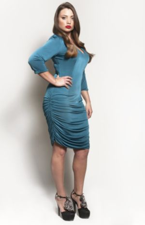 The Baize Dress in Teal