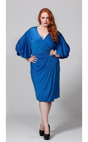 The Aki Dress in Blue