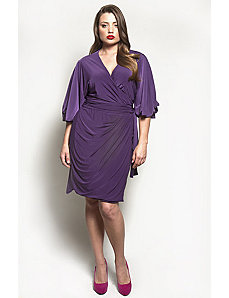 The Aki Dress in Eggplant by Queen Grace
