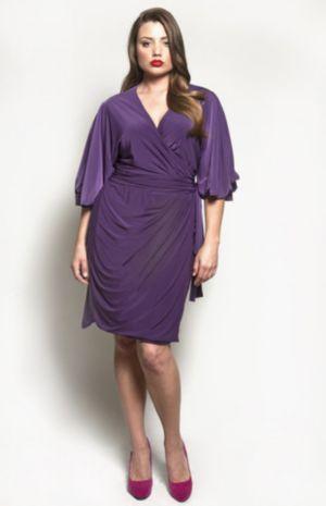 The Aki Dress in Eggplant