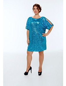 The Tina Dress in Blue by Queen Grace