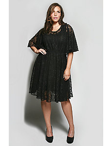 The Karrie Dress in Black Lace by Queen Grace