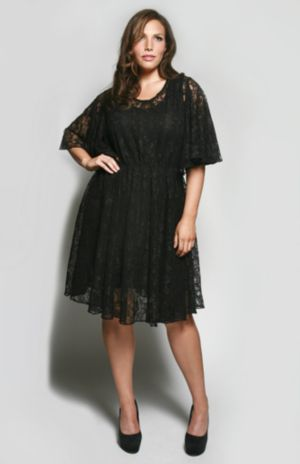 The Karrie Dress in Black Lace
