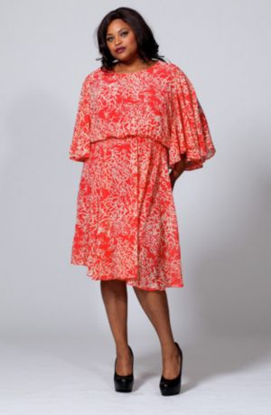 The Karrie Dress in Coral Reef