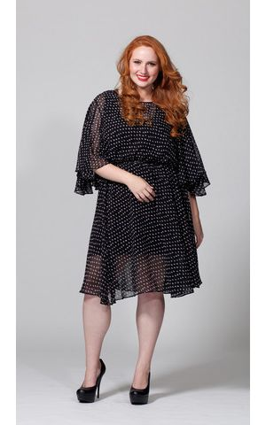 The Karrie Dress in Polka Dot