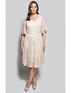 The Karrie Dress in Creamy Rose Lace by Queen Grace