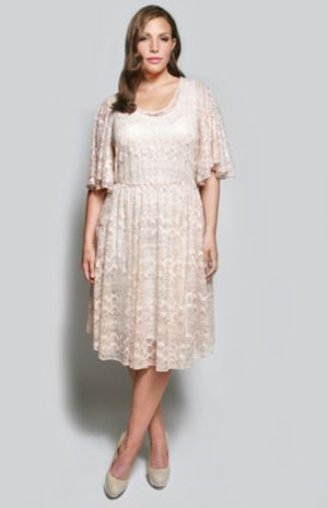 The Karrie Dress in Creamy Rose Lace