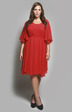 The Karrie Dress in Red