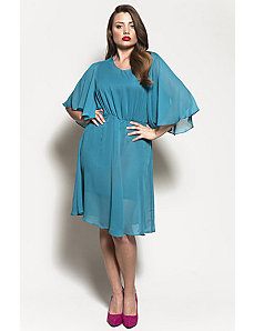 The Karrie Dress in Teal Chiffon by Queen Grace