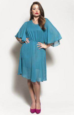 The Karrie Dress in Teal Chiffon