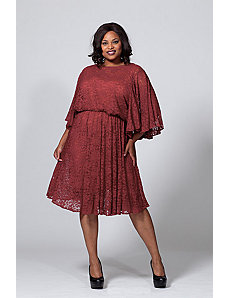 The Karrie Dress in Merlot Lace by Queen Grace