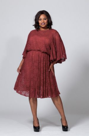The Karrie Dress in Merlot Lace