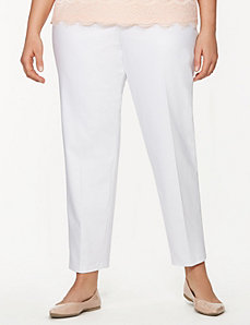 Lena double weave ankle pant by LANE BRYANT