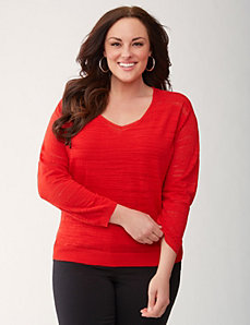 Slub sweater by LANE BRYANT