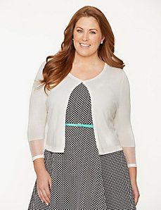 Illusion cardigan by LANE BRYANT