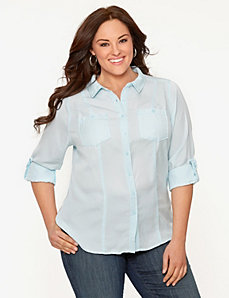 Camp shirt by LANE BRYANT