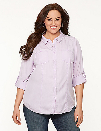 Tencel camp shirt
