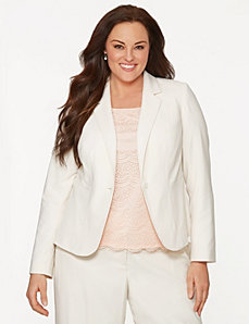 Soft twill jacket by LANE BRYANT