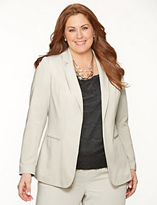 Crepe boyfriend jacket by LANE BRYANT