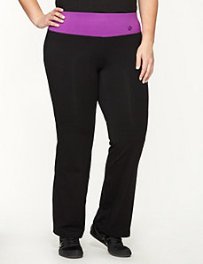 Yoga pant with mesh waistband by LANE BRYANT