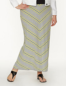 Chevron sweater maxi skirt by LANE BRYANT