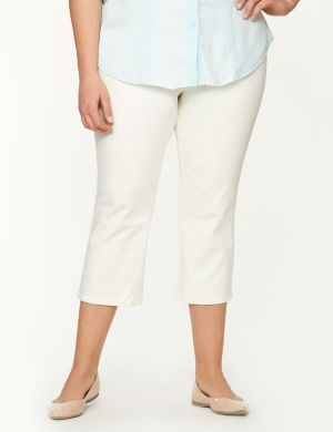 White capri with Tighter Tummy Technology