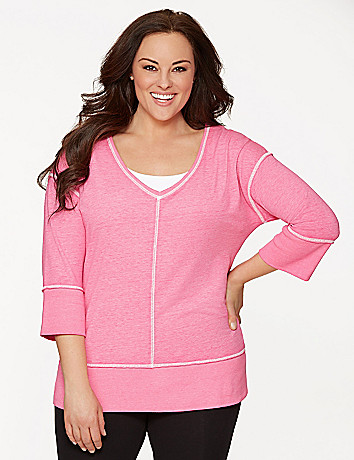Full Figure V Neck Tunic by Lane Bryant