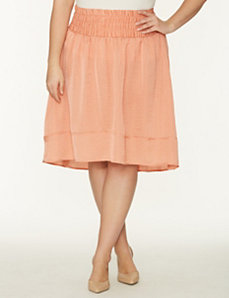 Crinkled high low skirt by LANE BRYANT