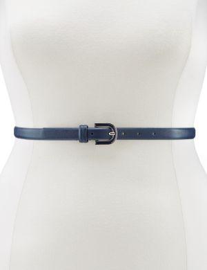 Enamel buckle skinny belt