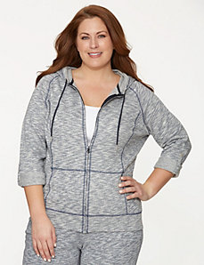Hoodie with convertible sleeves
