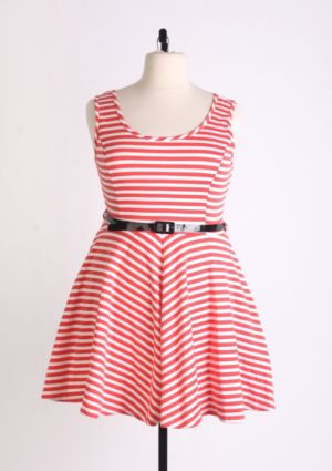 Melon Fresh Skater Dress